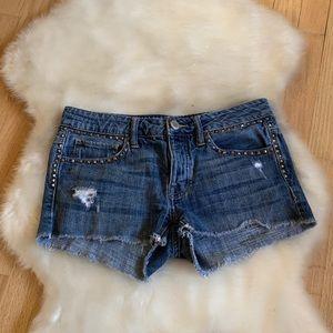 American Eagle Cut Off Distressed Jean Shorts, 2